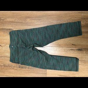 lululemon athletica Pants - Lululemon wonder under crop 6, green
